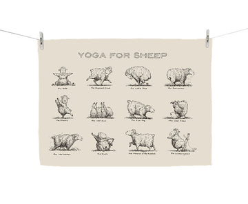 Tea towel - Yoga for Sheep