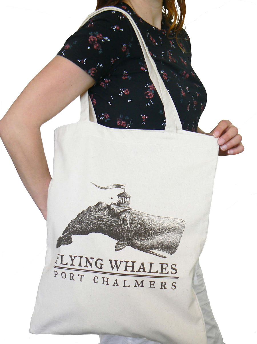 Tote bag - 'Curious fate' Flying Whale