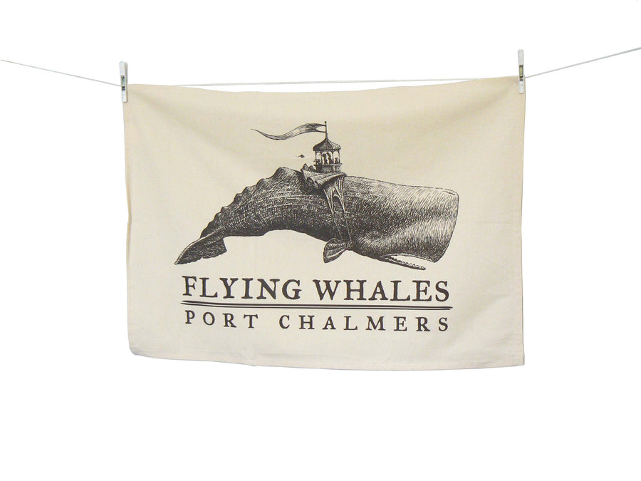 Tea towel - Flying Whale 'Curious Fate of the Band Rotunda'