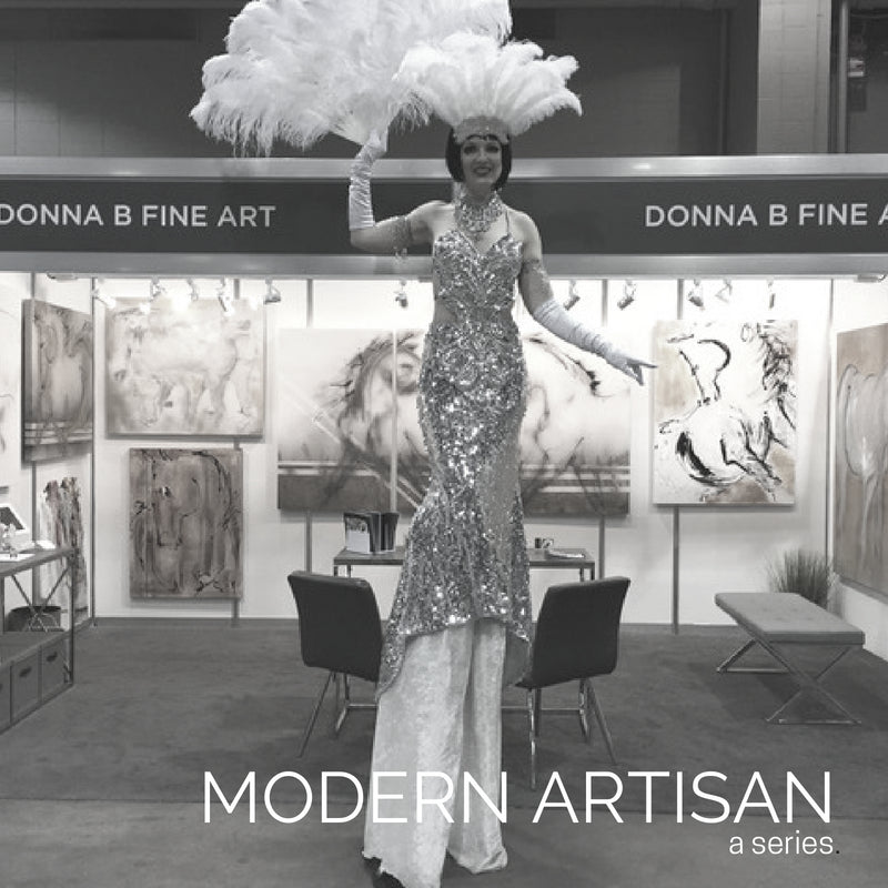 MODERN ARTISAN: Fine Artist Donna Bernstein Discusses Introducing Her Work to International Show Jumping Spectators