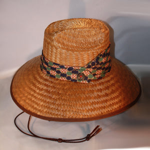 Lattice & Snaffle Bit Wide Brim Hat