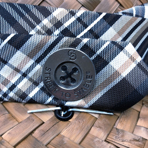 The Plaid and The Poncho - Black