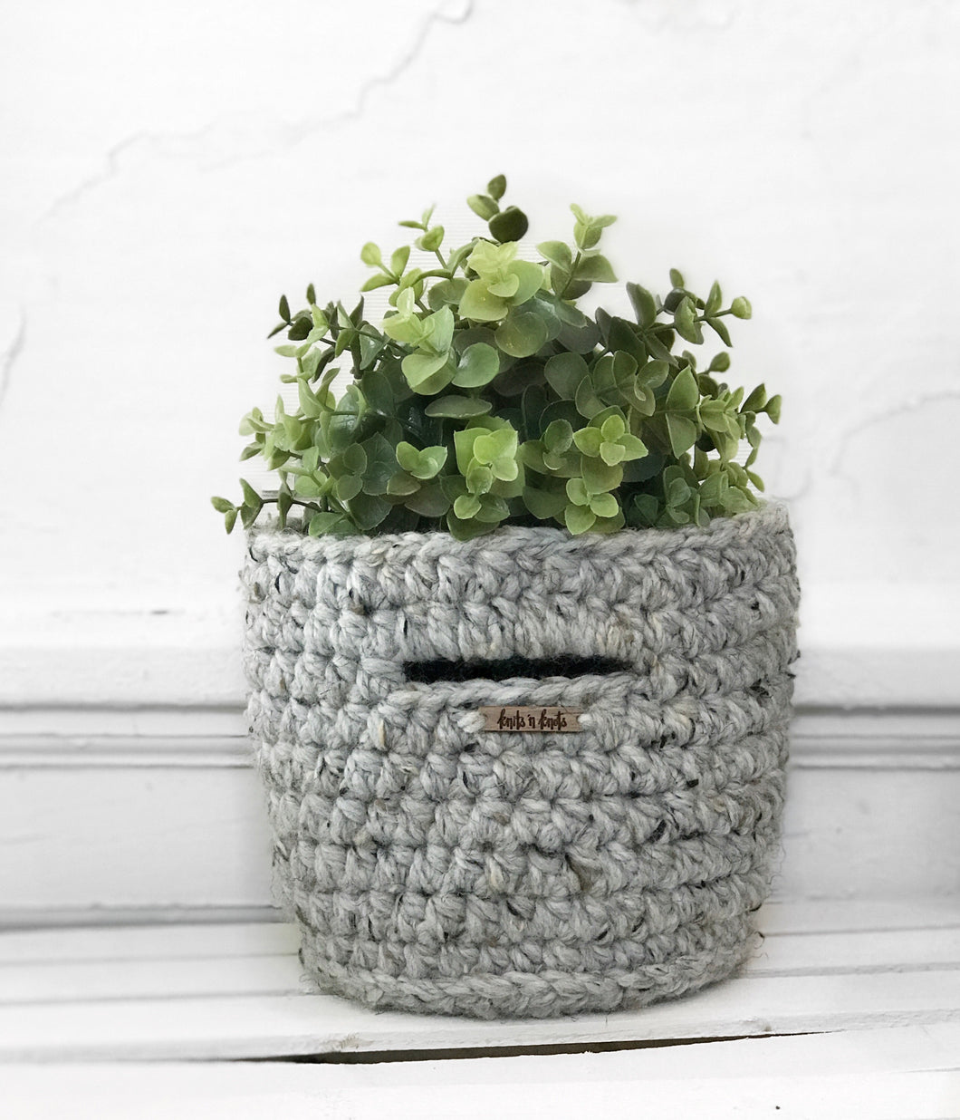 Mini Basket with Handles in Grey