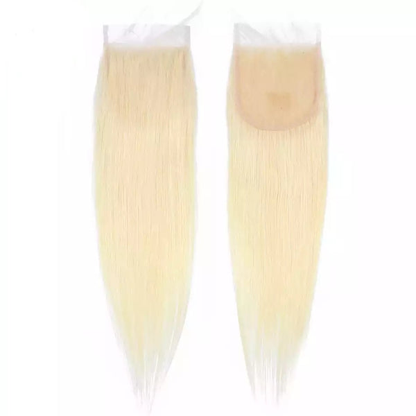 Straight Russian Blonde Lace Closure 4x4