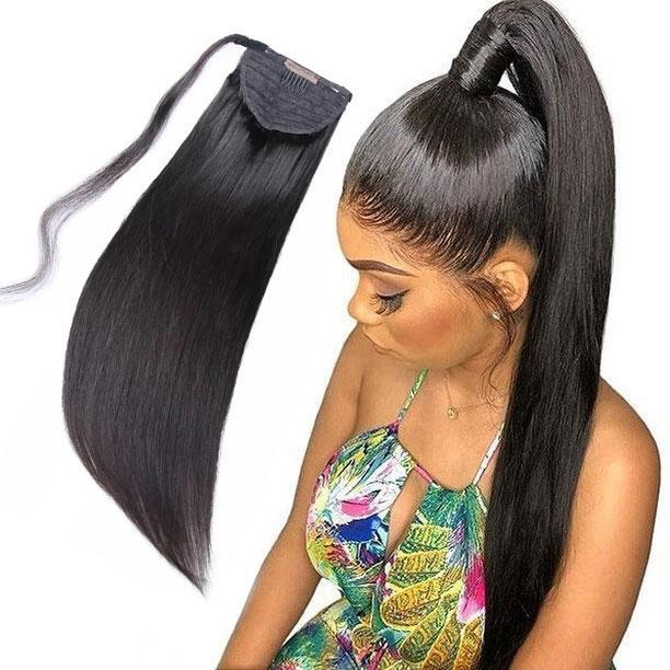 Kinky Straight Ponytail -20 inches