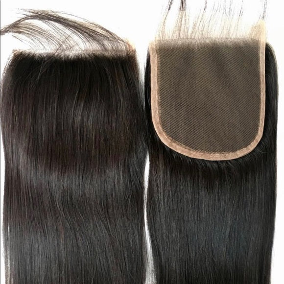 Free Part Lace Closure 5x5 Straight with baby hairs
