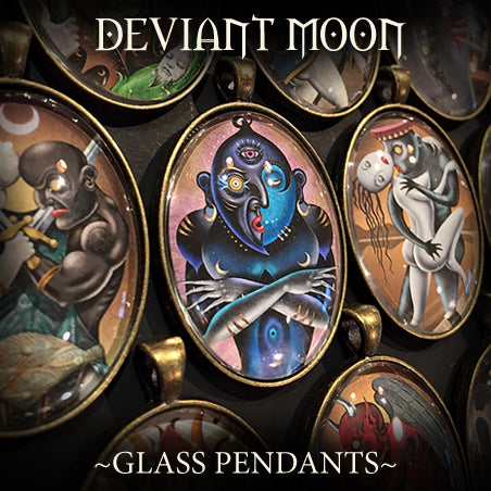 Deviant Moon Glass Pendant Collection