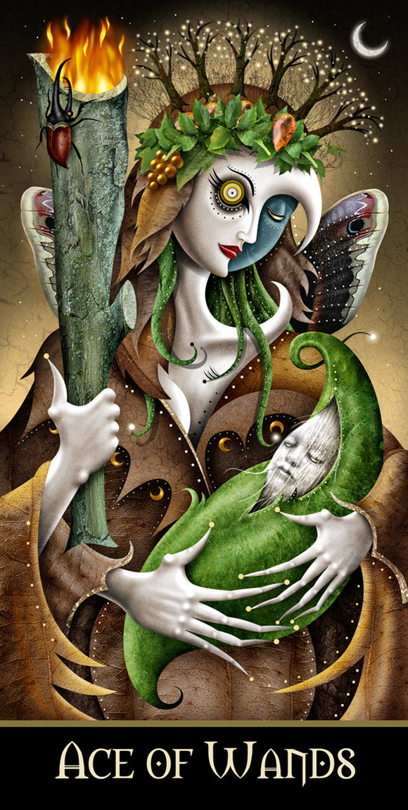 #57 ACE of WANDS HQ Giclee/Print