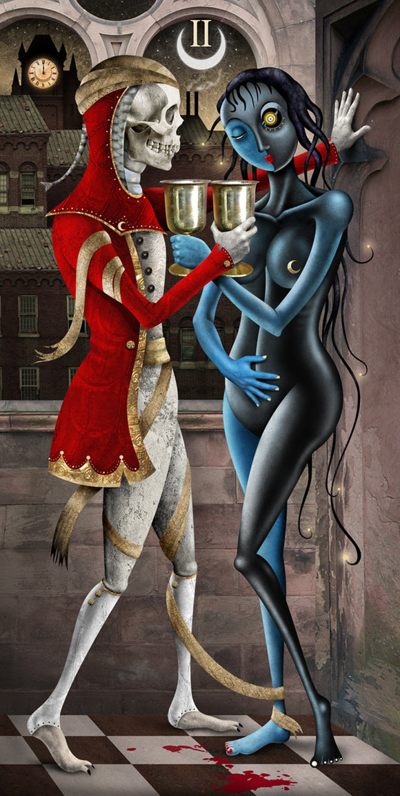 #62 TWO of CUPS HQ Giclee/Print