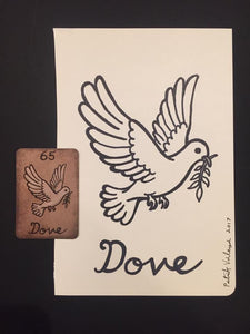 """The Dove"" Mildred Payne Oracle Original Ink Drawing"