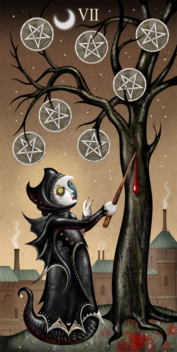 #74 SEVEN of PENTACLES HQ Giclee/Print