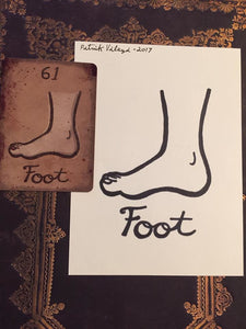 """The Foot"" Mildred Payne Oracle Original Ink Drawing"