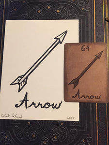 """The Arrow"" Mildred Payne Oracle Original Ink Drawing"