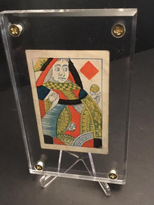 1830s Playing Card w/ Original Ink Doodle on Back-Patrick Valenza