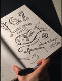 Signed OOAK DOODLE PAGE Deviant Moon Tarot Book