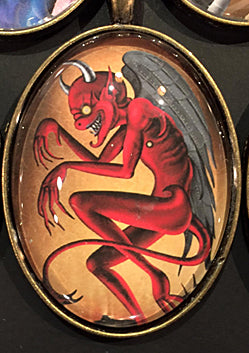 #15-The Devil 30×40 mm glass pendant