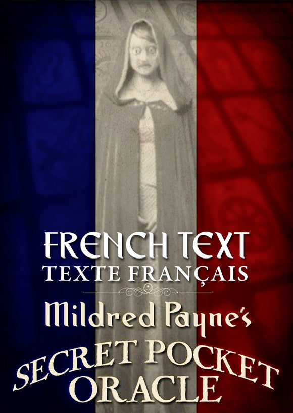 FRENCH TEXT-Mildred Payne's Secret Pocket Oracle (MINI SIZE ORIGINAL)