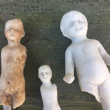 Broken Boys- Lot of 5 Authentic 1860s Bisque figures (Frozen Charles)