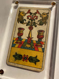 """2 of Cups""-Authentic Antique Tarot Card 1930"