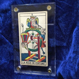 """Wheel of Fortune""-Historical Antique Hand Painted Tarot Card 1890s"