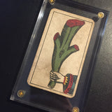 """Ace of Wands""-Authentic Antique Tarot Card 1930"