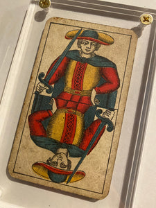 """Page of Swords ""-Authentic Antique Tarot Card 1930"
