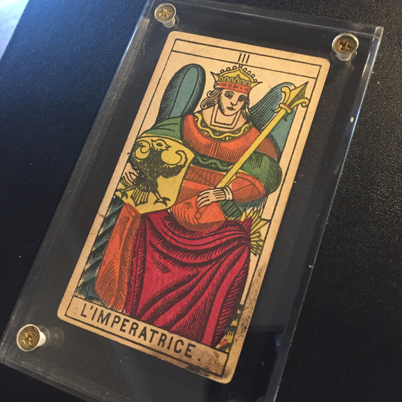 """The Empress""- Historical Antique Hand Painted Tarot Card 1890s"