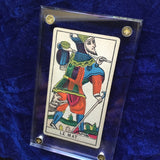 """The Fool""-Historical Antique Hand Painted Tarot Card 1890s"