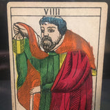 """The Hermit""-Original Hand Painted Card 1890s"