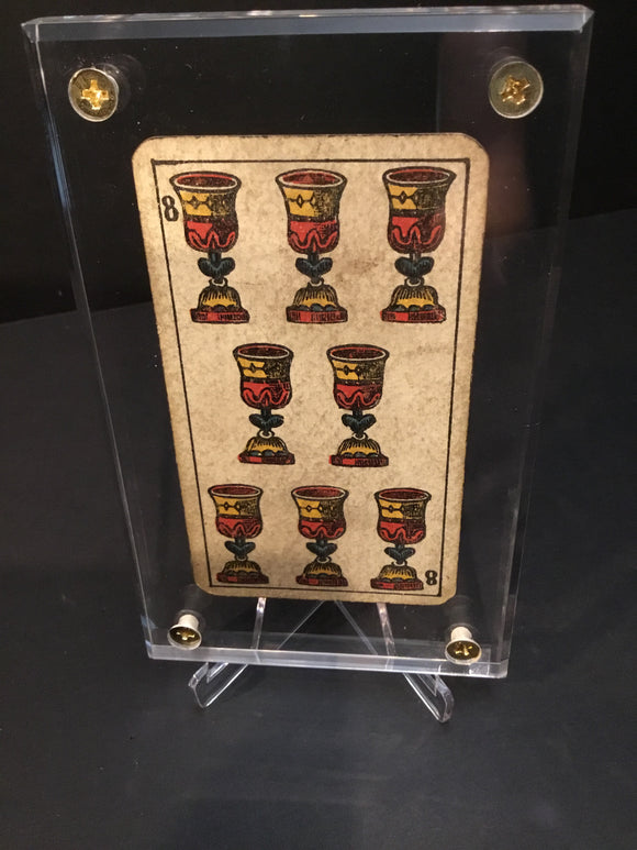 """8 of Cups""-Authentic Antique Tarot Card 1930"
