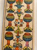 """6 of Cups""- Historical Antique Hand Painted Tarot Card 1890s"