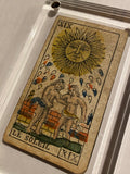 """The Sun""-Historical Antique Hand Painted Tarot Card 1850"
