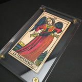 """Temperance""-Original Antique Hand Painted Card 1890s"