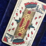 """The Tower""-Authentic Antique Tarot Card 1930"