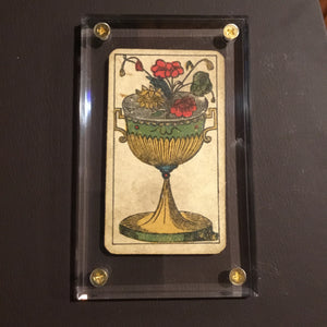 """Ace of Cups""-Authentic Antique Tarot Card 1930"