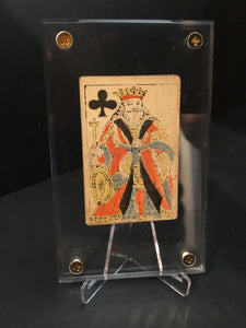 King of Clubs~Authentic Early 19th Century Playing Card