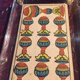 """10 of Cups""- Historical Antique Hand Painted Tarot Card 1890s"