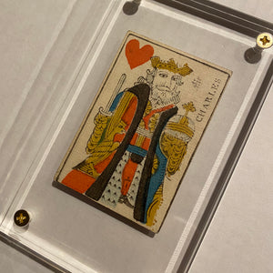 King of Hearts-Authentic 18th Century Playing Card