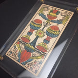"""Two of Cups""-Original Hand Painted Card 1890s"