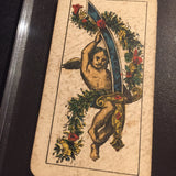 """Ace of Swords""-Authentic Antique Tarot Card 1920.  G. Cassini  Brescia"