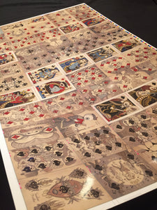 Uncut/ Signed Sheet-Royal Mischief Transformation Playing Cards