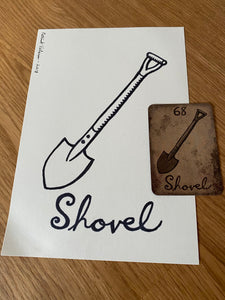 The Shovel- Original Ink Drawing/ Signed
