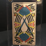 """Ten of Swords""-Original Antique Hand Painted Card 1890s"