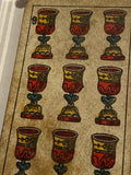 """ 9 of Cups""-Authentic Antique Tarot Card 1930"