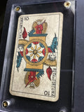 """The Wheel of Fortune""-Authentic Antique Tarot Card 1930"