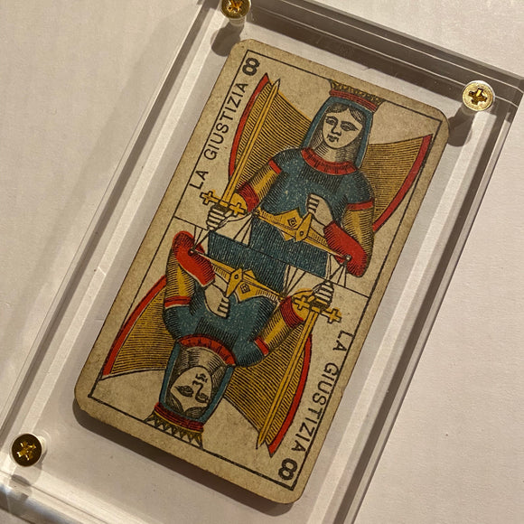 """Justice""-Authentic Antique Tarot Card 1930"