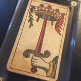 """Ace of Swords""-Authentic Antique Tarot Card 1930"