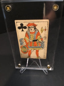 Jack of Clubs~Authentic Early 19th Century Playing Card