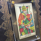 """The Pope""-Historical Antique Hand Painted Tarot Card 1890s"
