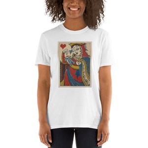 Queen of Hearts- Royal Mischief Playing Cards -Short-Sleeve Unisex T-Shirt